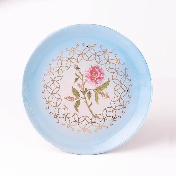 Dekoratif Çiçek Desenli Tabak